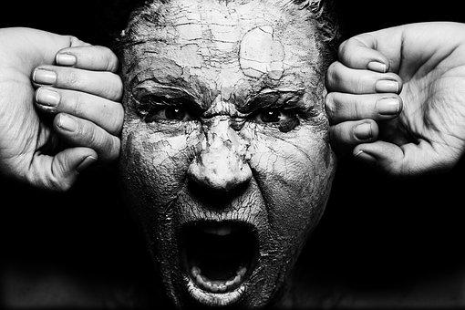 Face, Woman, Eye, Skin, Art, Earth, Sound, Mask, Cry