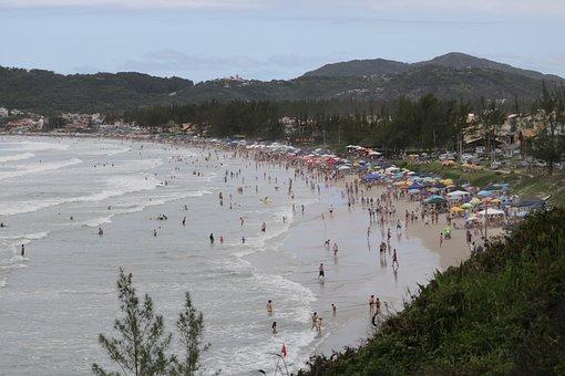 Garopaba, Santacatarina, Beach, Brazil, Mo, Landscapes