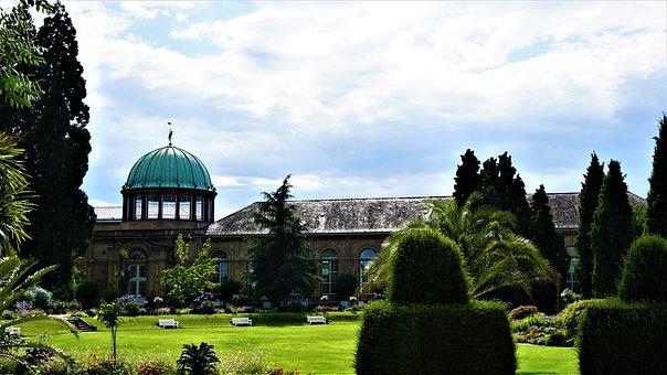 Botanical Garden, The Castle Of Karlsruhe, Park, Rush