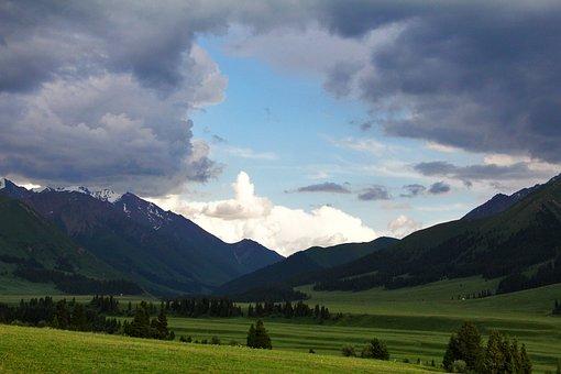 Mountain, Cloud, Color, Grassland, Scenery, Travel