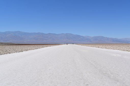 Desert, Salt, Hot, Sky, Dry, Landscape, Mountains