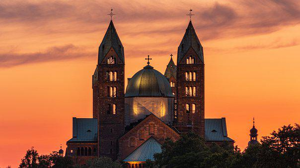 Dom, Speyer, Cathedral, Sky, Historically, Building