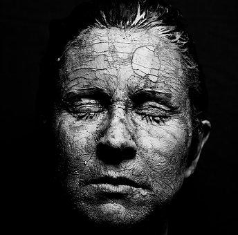 Face, Woman, Skin, Art, Earth, Sound, Mask, Emotion