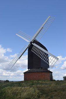 Windmill, English, Agriculture, History, Old, Historic