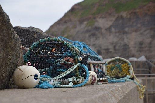 Sea, Fishing, Beach, Boat, Marine, Fisherman, Cage