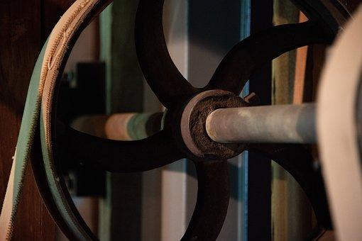 Gears, Mill, Grain, Grinder, Antique, Mechanics