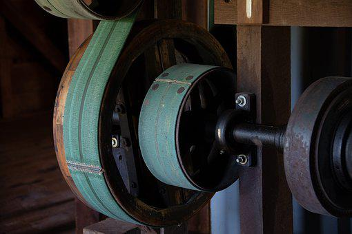 Mill, Gears, Pulley, Historical, Mechanical, Turn