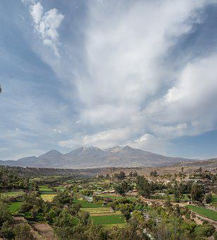 Peru, Arequipa, Clouds, Mountains, Andes, Landscape
