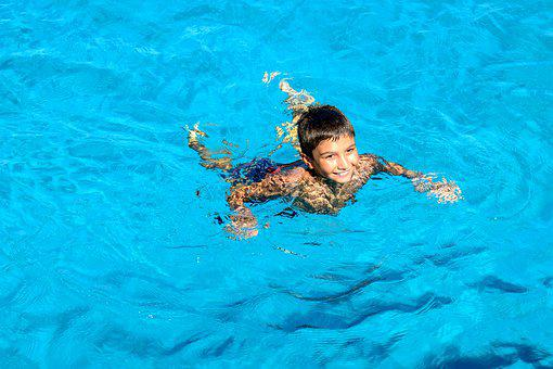 Boy, Swimming, Sea, Summer, Child, Nature, Vacation