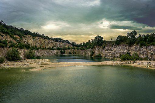 Quarry, Lake, Beach, Water, Pond, Lagoon, Landscape