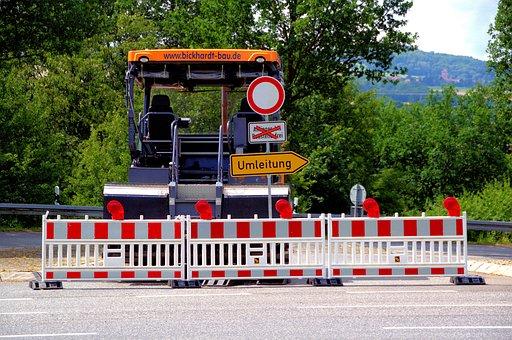 Redirect, Road Block His, Lock, Site, Road Construction