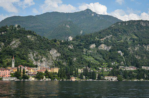 Trees, Rock, Landscape, Nature, Forest, Lake, Italy
