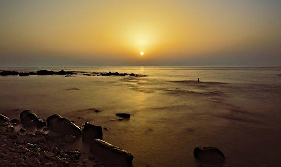 Sunset, Blue Hour, Dusk, Abendstimmung, Beach, Sea