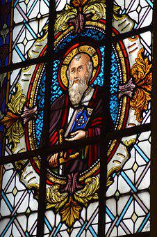 Stained Glass, Window, Church, Colorful, Saint, Paul