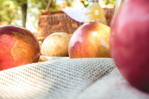 Picnic, Apple, Apples, Food, Delicious, Summer, Basket