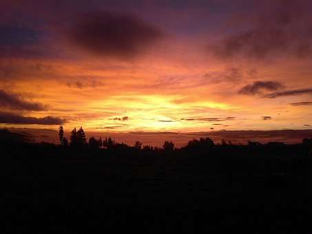 Sunset, Nature, Mountain, Boyacá, Sky, Colors, Dusk