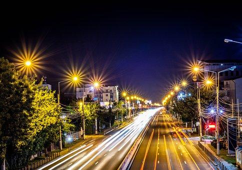 Night, Dark, Nature, Light, City, Traffic