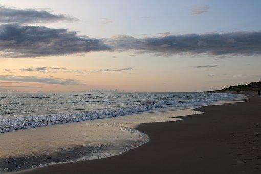 Abendstimmung, Beach, Sea, Sunset, Water, Nature