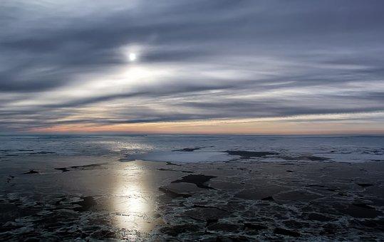 White, Sea, White Sea, Nature, Landscape, Sky, Coast