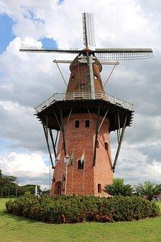 Holambra, Mill, Square, Wind, Texture, Cornfield