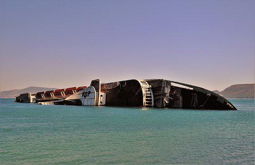 Ship, Shipwrecked, Sea, Wreck, Water, It Was Abandoned