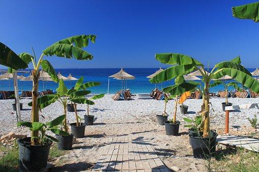 Beach, Dhermi, Albania, Blue