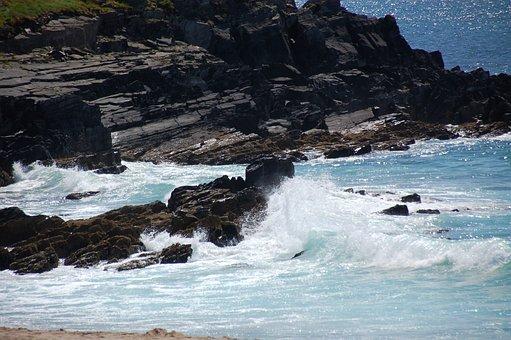 Sea, Rock, Water, Bay, Coast, Summer