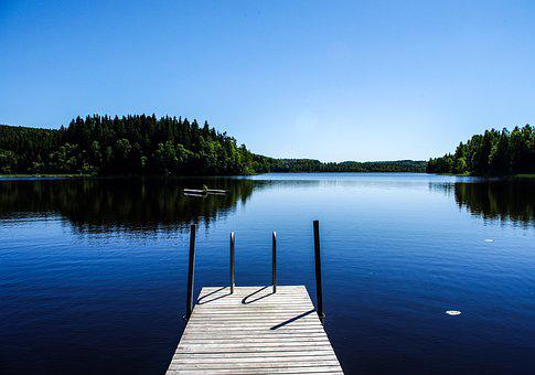 Lake, Water, Nature, Blue, Reflection, Summer, Outdoors