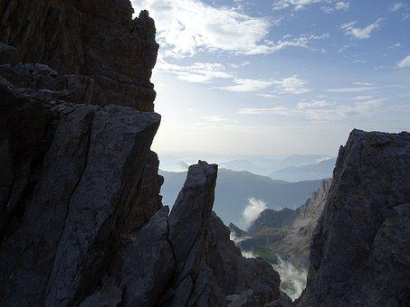 Brenta, Italy, Dolomites, Mountains, Sky, Clouds