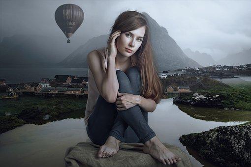 Portrait, Fantasy, Fantasy Portrait, Fantasy Landscape