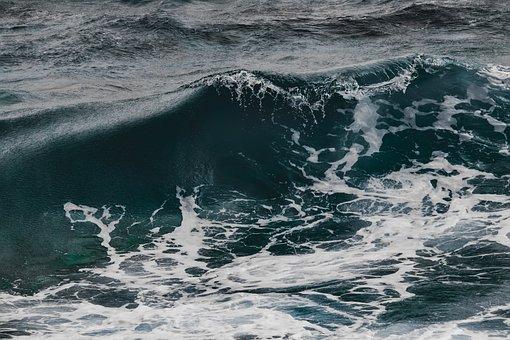 Wave, Surf, Water, Nature, Spray, Foam, Seascape, Power