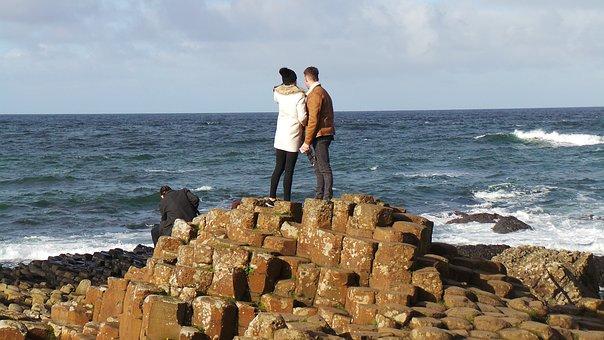 Giants Causeway, Nature, Ireland, Landscape, Sea, Sky