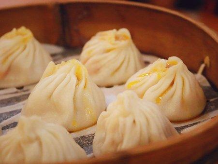 Shanghai, Gourmet, Crab Package, Steamed Stuffed Bun
