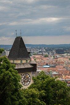 Graz, Clock Tower, Austria, Landmark
