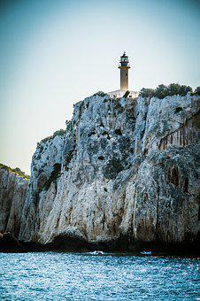 Greece, Islands, Sea, Nature, Lighthouse, Lefkada