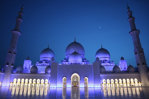 Mosque, Abu Dhabi, U A E, Architecture, Islam, Orient