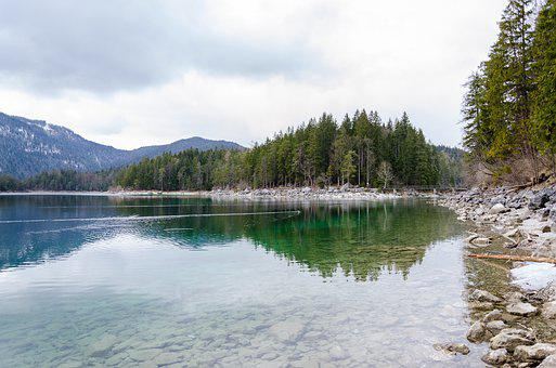 Eibsee, Landscape, Forest, Lake, Water, Mountain Lake