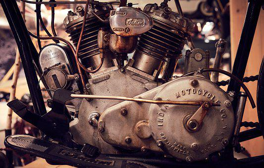 Indian, Motorcycle, Motor, Oldtimer, Machine