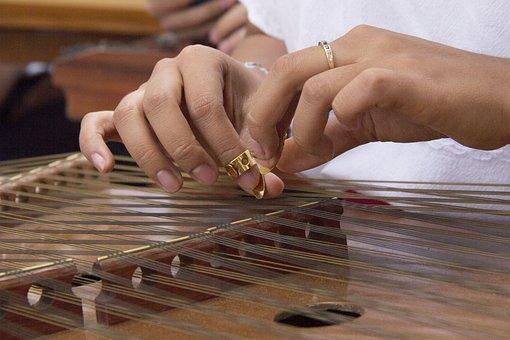 Psalter, Instrument, Music, Rope, Musician