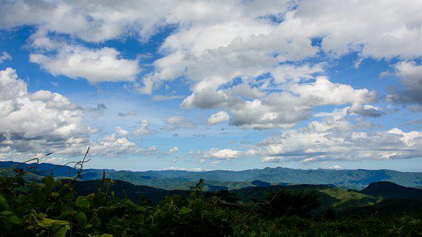Landscape, Sky, Clouds, Nature, Mountains, Outdoors