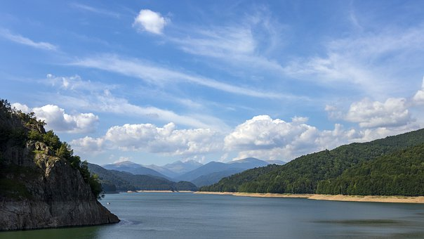 Lake, Mountains, Nature, Landscape, Sky, Clouds, Summer