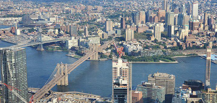 Bridge, New York City, City, Manhattan, Nyc, River