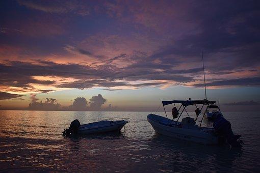 Isla Holbox, Mexico, North America, Sea, Ocean, Boat