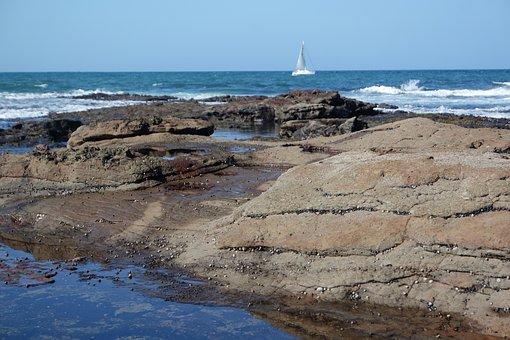 Ocean, Rocks, Blue Sky, Sea, Water, Nature, Landscape