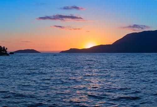 Sunset, West, Landscape, Nature, Mar, Ocean, Beach
