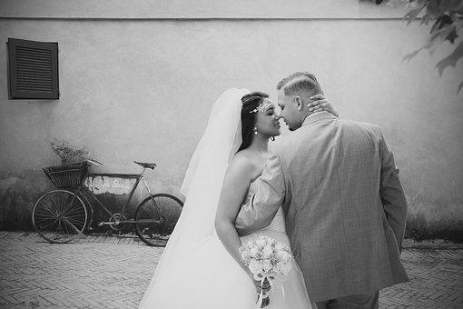 Wedding, Couple, Love, Marriage, Romantic, People