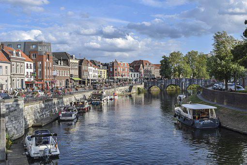 City, River, Building, Architecture, Water, Bridge