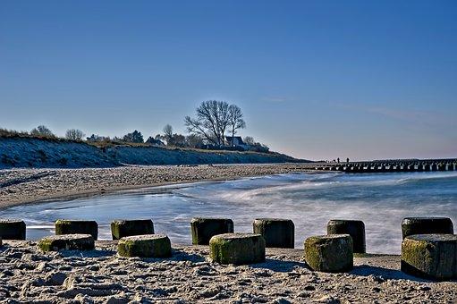 Groynes, Beach, Sea, Landscape, Beach Landscape, Coast