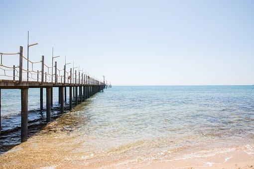 Sea, Beach, Summer, Water, Sand, Sky, Nature, Seascape