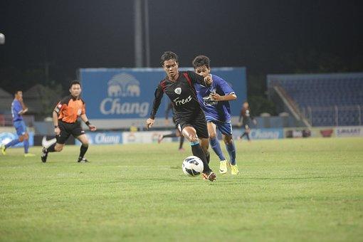 Running, Soccer, Football, Sport, Player, Ball